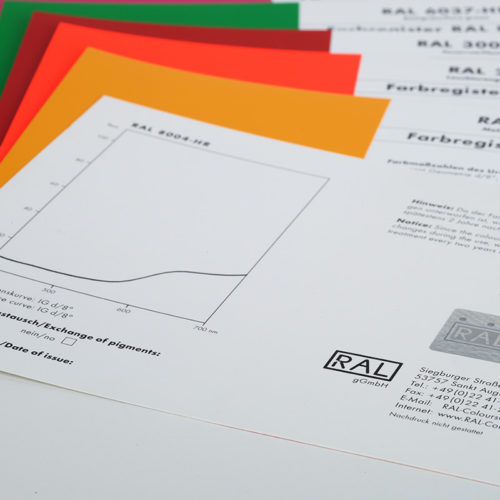 Padrões individuais de cor RAL 840 - HR