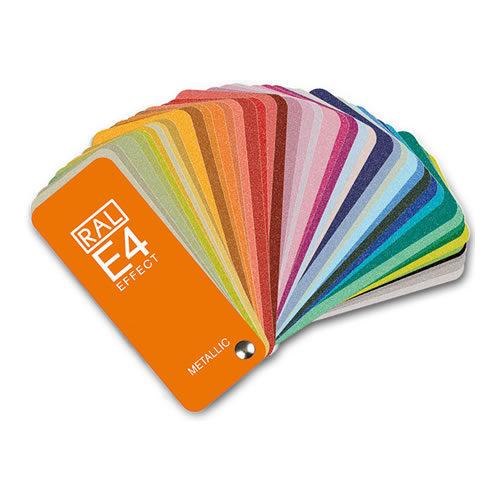 Paleta de cores RAL E4 – Metálicas de alto brilho